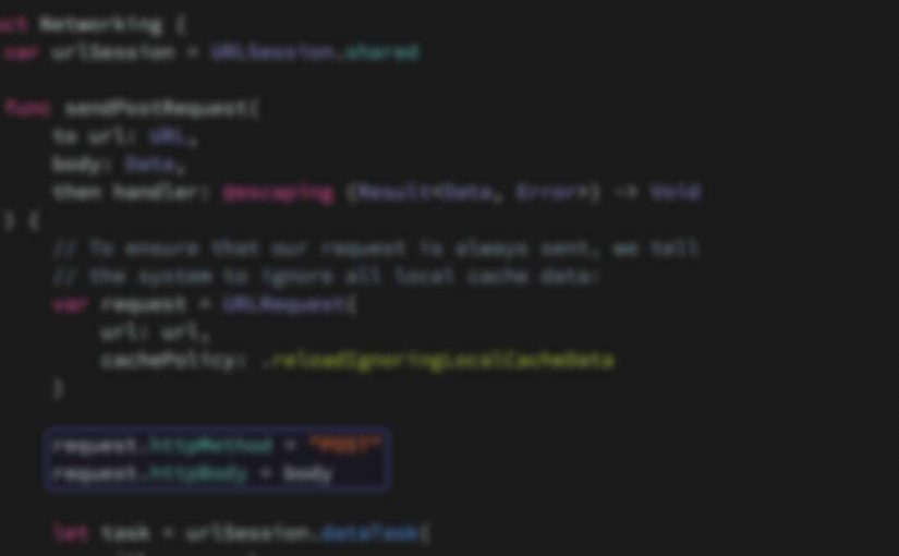 Выполнение POST-запросов и загрузки файлов с помощью URLSession