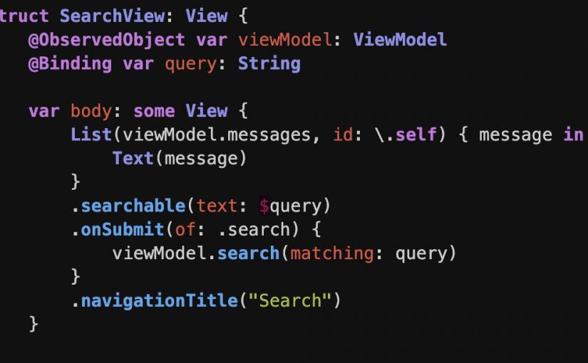 Внесение значений в SwiftUI View