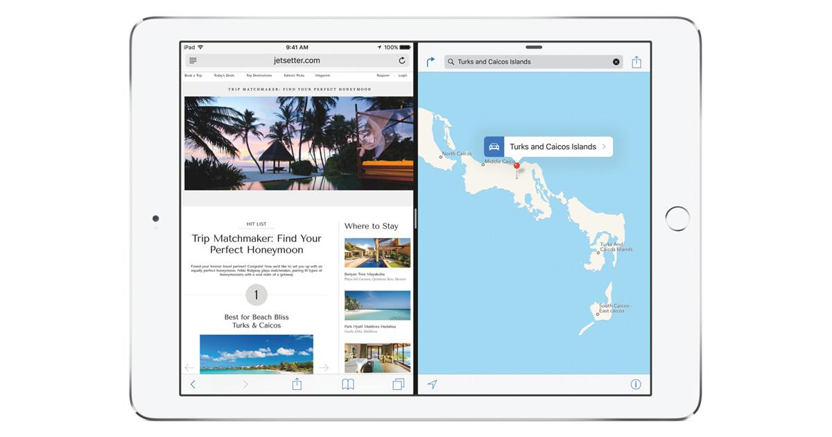 Многозадачность iPad на iOS 9